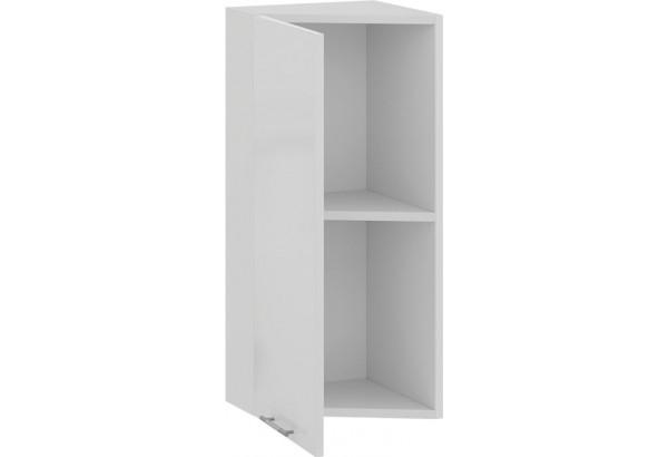 Шкаф навесной торцевой «Весна» (Белый/Белый глянец) - фото 2