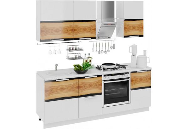 Кухонный гарнитур длиной - 210 см (со шкафом НБ) Фэнтези (Вуд) - фото 1