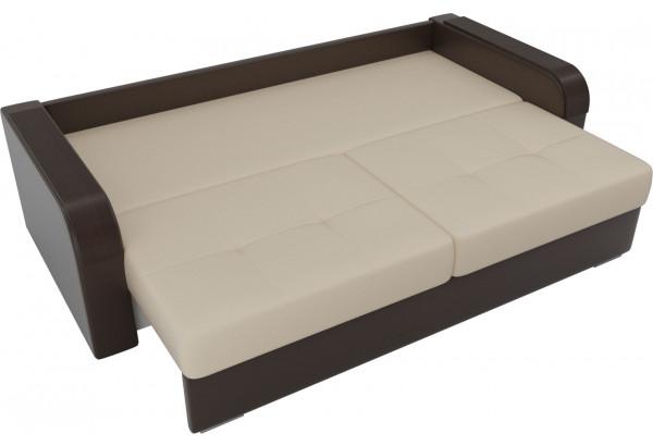Прямой диван Мейсон бежевый/коричневый (Экокожа) - фото 6