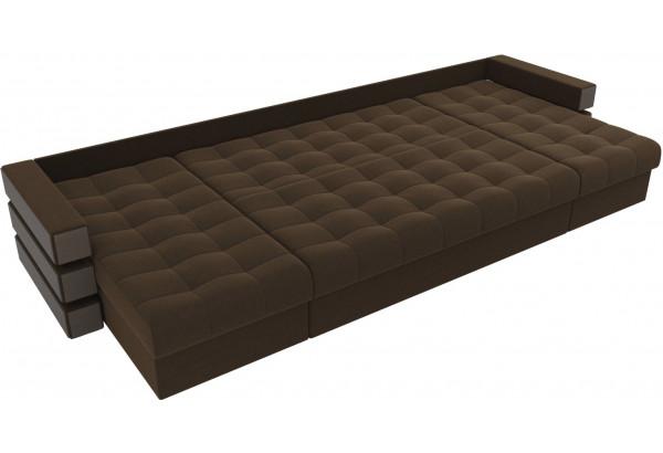 П-образный диван Венеция Коричневый (Микровельвет) - фото 7
