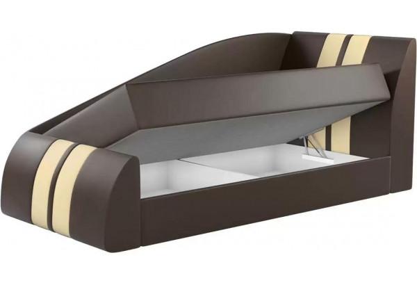 Детская кровать Мустанг Коричневый (Экокожа) - фото 2