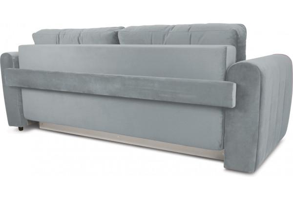 Диван «Хьюго» (Fenix Silver (микровелюр) Светло - серый кант Fenix Lilac (микровелюр) Лиловый) - фото 4