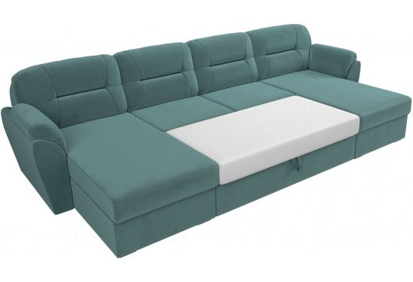 П-образный диван Бостон бирюзовый (Велюр) - фото 7