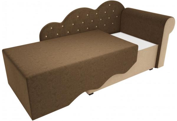 Детская кровать Тедди-1 Коричневый/Бежевый (Микровельвет) - фото 3