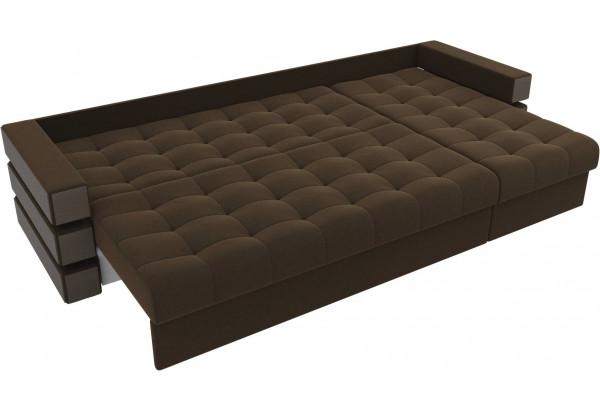 Угловой диван Венеция Коричневый (Микровельвет) - фото 7