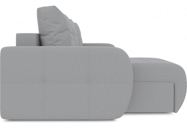 Диван угловой левый «Томас Slim Т1» (Poseidon Grey (иск.замша) серый) - фото 5