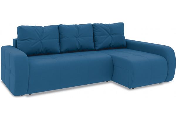 Диван угловой правый «Томас Т2» Beauty 07 (велюр) синий - фото 1