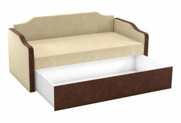 Детский диван Дороти бежевый/коричневый (Микровельвет) - фото 2