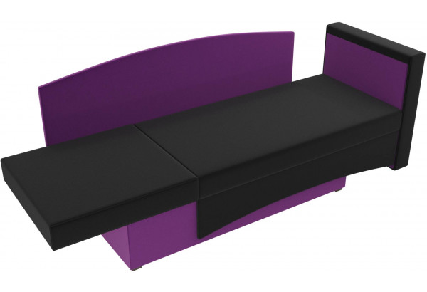 Кушетка Чарли черный/фиолетовый (Микровельвет) - фото 6