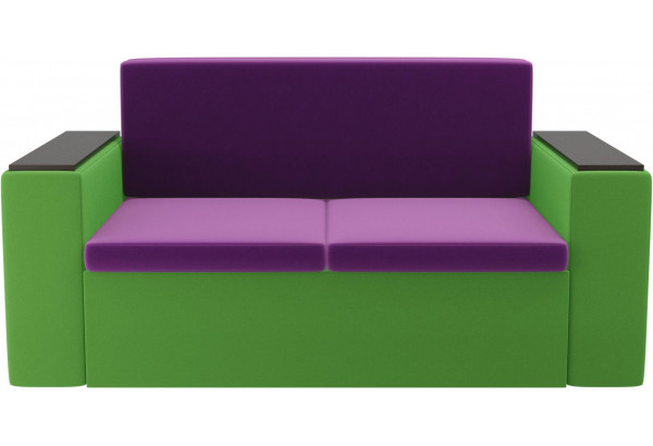 Детский диван Арси фиолетовый/зеленый (Микровельвет) - фото 2