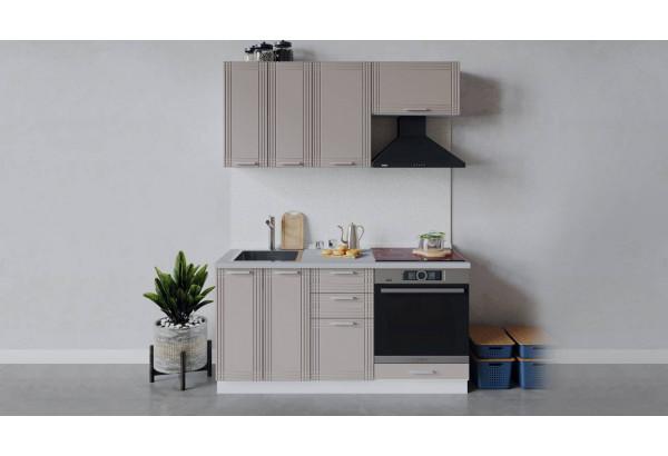Кухонный гарнитур «Ольга» длиной 160 см со шкафом НБ (Белый/Кремовый) - фото 1
