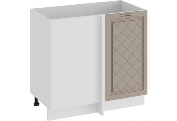 Шкаф напольный угловой «Бьянка» (Белый/Дуб кофе) - фото 1