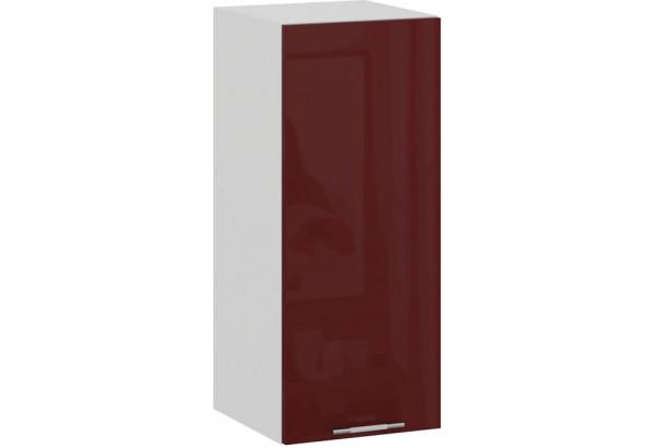 Шкаф навесной c одной дверью «Весна» (Белый/Бордо глянец) - фото 1