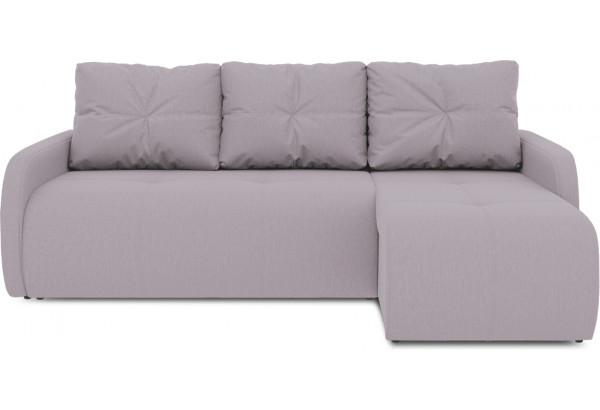 Диван угловой правый «Томас Slim Т1» (Poseidon Pale Lavender (иск.замша) бледно-лавандовый) - фото 2