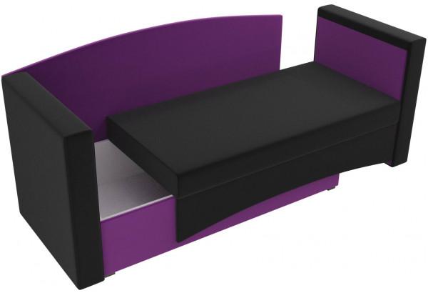 Кушетка Чарли черный/фиолетовый (Микровельвет) - фото 5