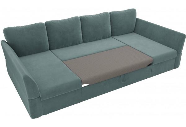 П-образный диван Гесен бирюзовый (Велюр) - фото 6