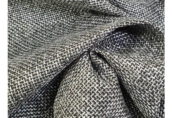 Угловой диван Монако Серый/Черный/Цветы (Рогожка/Экокожа) - фото 10