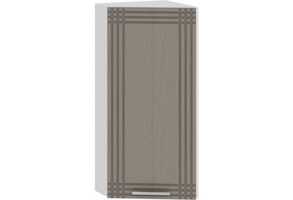 Шкаф навесной торцевой «Ольга» (Белый/Кремовый) - фото 1