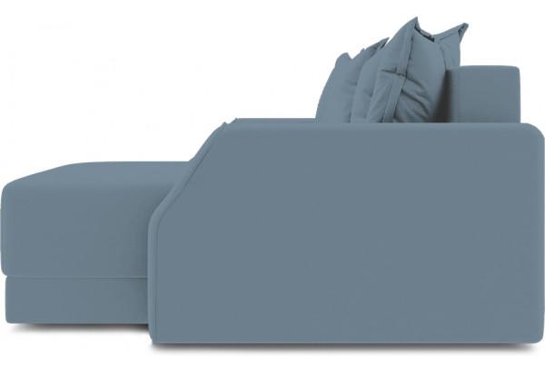 Диван угловой правый «Люксор Slim Т1» (Poseidon Ocean (иск.замша) серо-голубой) - фото 5