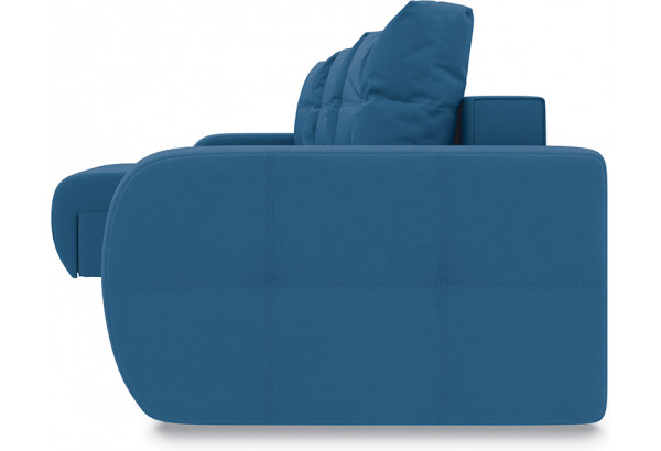Диван угловой левый «Томас Т1» Beauty 07 (велюр) синий - фото 3