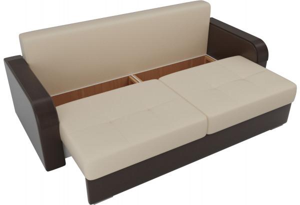 Прямой диван Мейсон бежевый/коричневый (Экокожа) - фото 5
