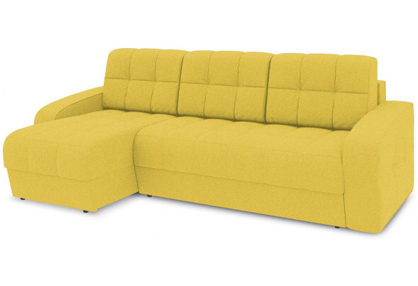 Диван угловой левый «Аспен Т1» (Neo 08 (рогожка) желтый) - фото 1