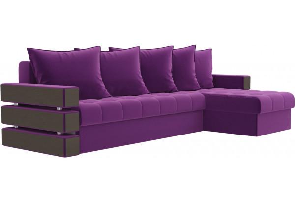 Угловой диван Венеция Фиолетовый (Микровельвет) - фото 3