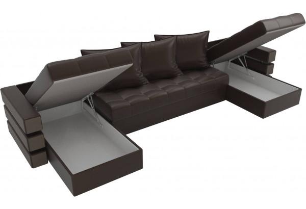 П-образный диван Венеция Коричневый (Экокожа) - фото 5