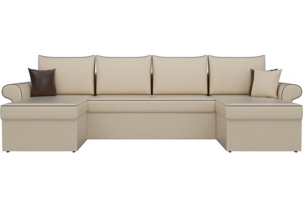 П-образный диван Милфорд Бежевый (Экокожа) - фото 2
