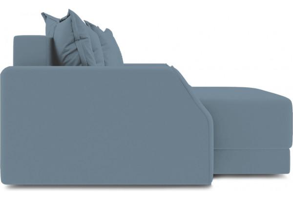 Диван угловой левый «Люксор Slim Т1» (Poseidon Ocean (иск.замша) серо-голубой) - фото 5
