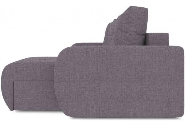 Диван угловой правый «Томас Slim Т1» (Levis 68 (рогожка) Темно - фиолетовый) - фото 4