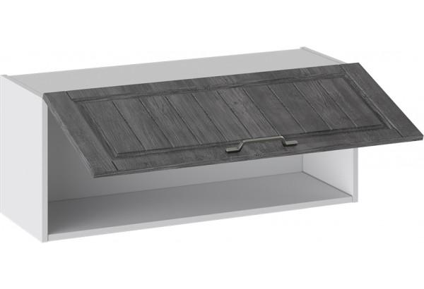 Шкаф навесной (ПРОВАНС (Белый глянец/Санторини темный)) - фото 2