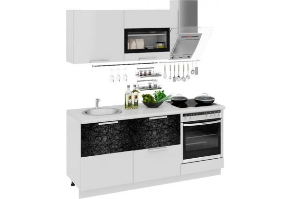 Кухонный гарнитур длиной - 180 см (со шкафом НБ) Фэнтези (Белый универс)/(Лайнс) - фото 1
