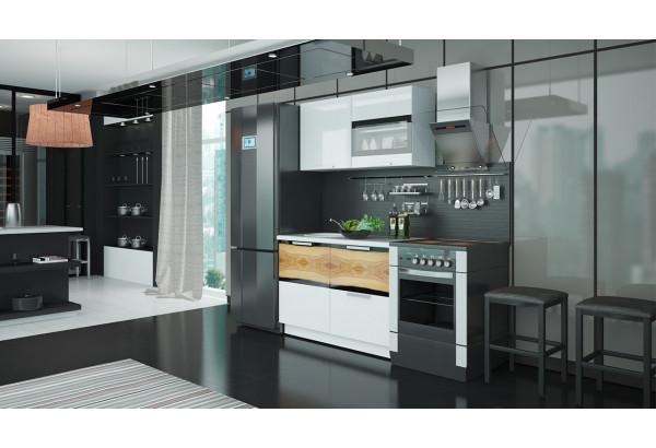 Кухонный гарнитур длиной - 180 см Фэнтези (Белый универс)/(Вуд) - фото 2