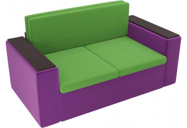 Детский диван Арси зеленый/фиолетовый (Микровельвет) - фото 4