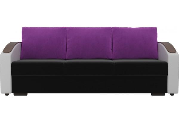 Прямой диван Монако slide Черный/Белый (Микровельвет/Экокожа) - фото 2