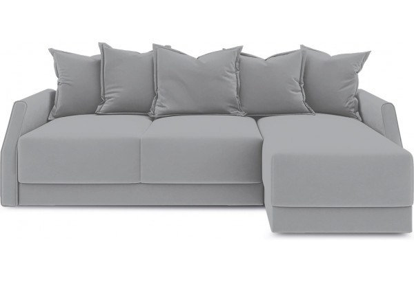 Диван угловой правый «Люксор Slim Т1» (Poseidon Grey (иск.замша) серый) - фото 2