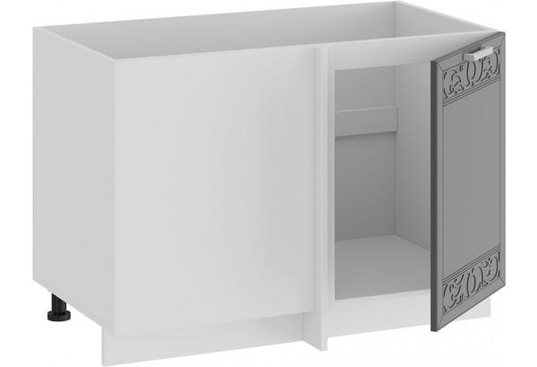 Шкаф напольный угловой «Долорес» (Белый/Титан) - фото 2