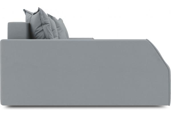 Диван угловой левый «Люксор Slim Т2» (Kolibri Silver (велюр) серый) - фото 5