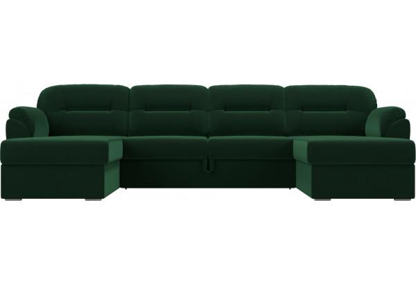 П-образный диван Бостон Зеленый (Велюр) - фото 2