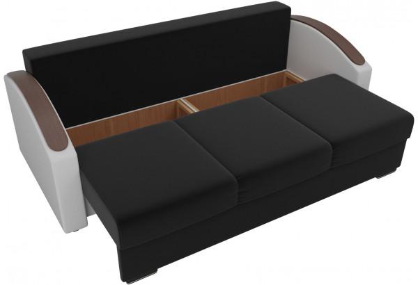 Прямой диван Монако slide Черный/Белый (Микровельвет/Экокожа) - фото 5