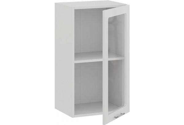 Шкаф навесной c одной дверью со стеклом «Весна» (Белый/Белый глянец) - фото 2