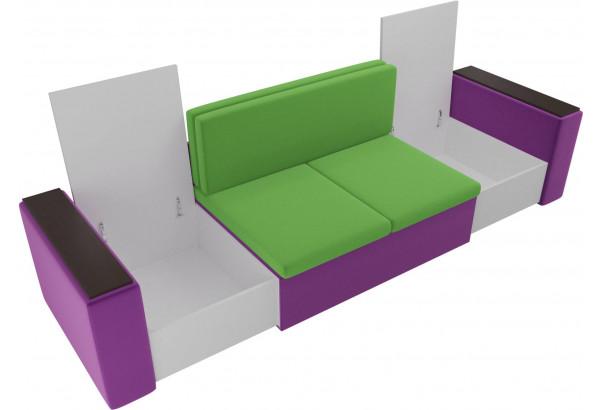 Детский диван Арси зеленый/фиолетовый (Микровельвет) - фото 6