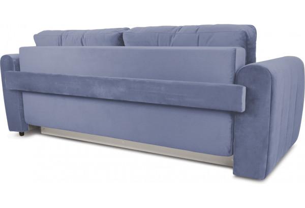 Диван «Хьюго» (Poseidon Blue Graphite (иск.замша) серо-фиолетовый кант Poseidon Grey (иск.замша) серый) - фото 4