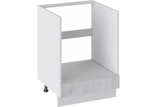 Шкаф напольный под бытовую технику с 1-м ящиком (ПРОВАНС (Белый глянец/Санторини светлый)) - фото 1