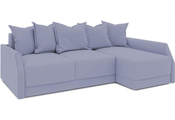 Диван угловой правый «Люксор Slim Т2» (Poseidon Blue Graphite (иск.замша) серо-фиолетовый) - фото 1