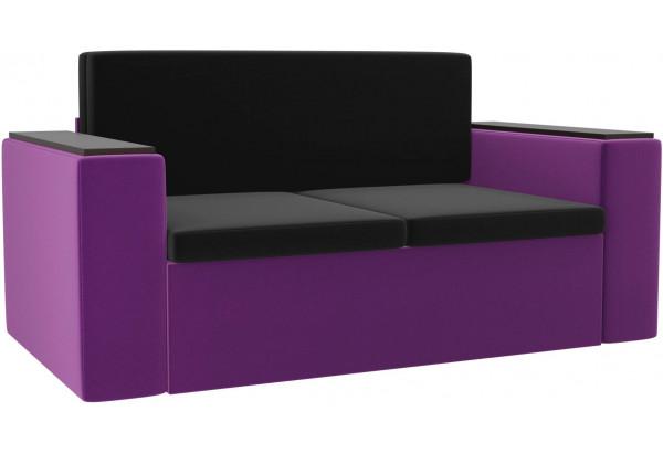 Детский диван Арси черный/фиолетовый (Микровельвет) - фото 1