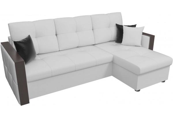 Угловой диван Валенсия Белый (Экокожа) - фото 4