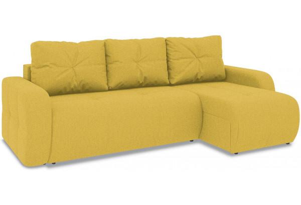 Диван угловой правый «Томас Т1» (Neo 08 (рогожка) желтый) - фото 1