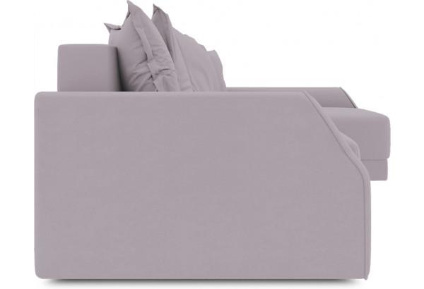 Диван угловой правый «Люксор Slim Т2» (Poseidon Pale Lavender (иск.замша) бледно-лавандовый) - фото 3
